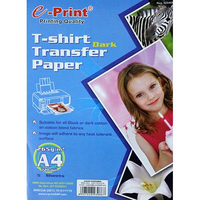 E-print dark transfer paper