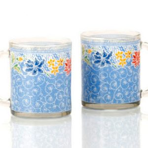 GMB3602 Glass Mug Set – Pesisir Biru