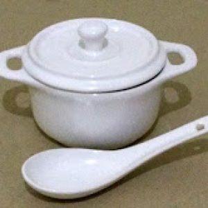 MANGKUK SUP ( D-1328 ) + Sendok