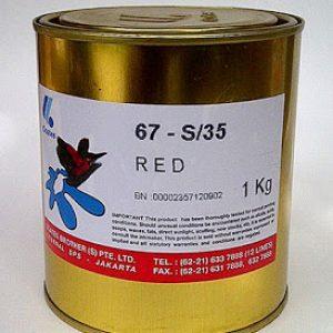 Warna sablon gelas Coates Red