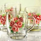 GM 0734 GLASS MINI JGC ( 4 PCS ) GOLDEN ROSE
