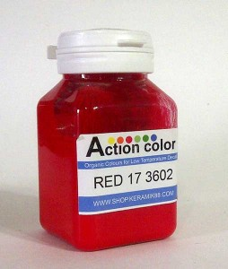 Cat Action Colour Merah