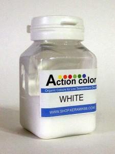 Cat Action Colour White