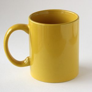 Mug Warna Kuning Tua
