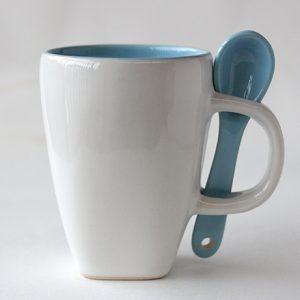 Mug Sendok D1387 warna dalam turquise