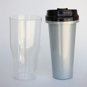 Tumbler insert paper Silver ( Cover Black )