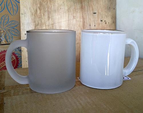 gelas doff dan coating putih k