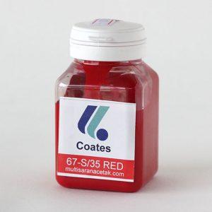 CAT GELAS COATES 67- S/35 RED 100 GRAM