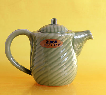 Keramik motif daun D1005TK