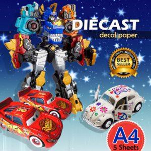 Kertas Decal untuk Diecast atau mainan anak