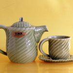 Keramik motif daun D1005 TK