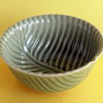 Keramik motif daun D1007L
