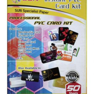SUN PVC ID CARD 0.76 WHITE (ISI 50 SET)
