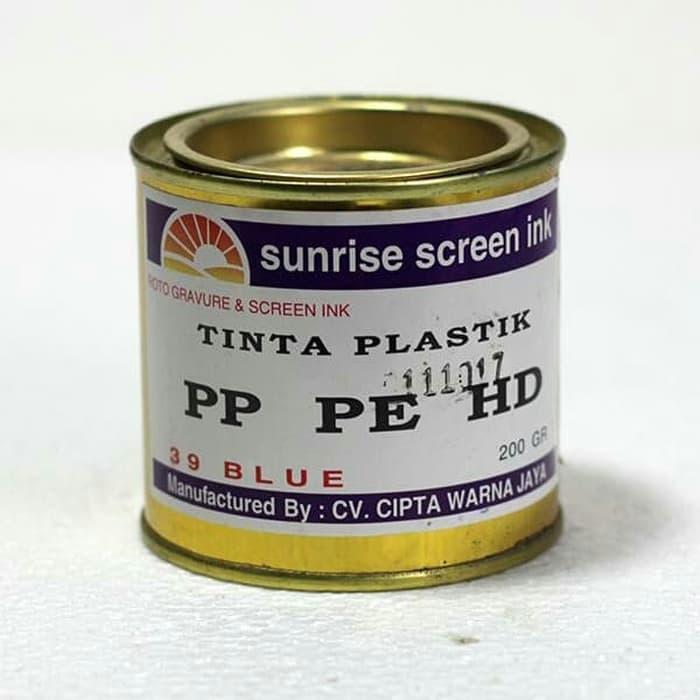 Tinta Sablon Plastik PP PE HD Blue