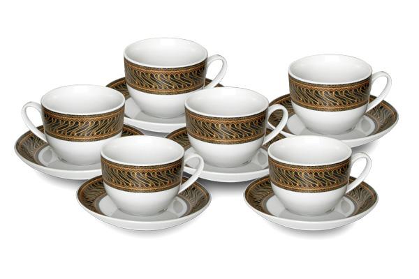 Cup&Saucer (12 pcs) Parang Kusuma