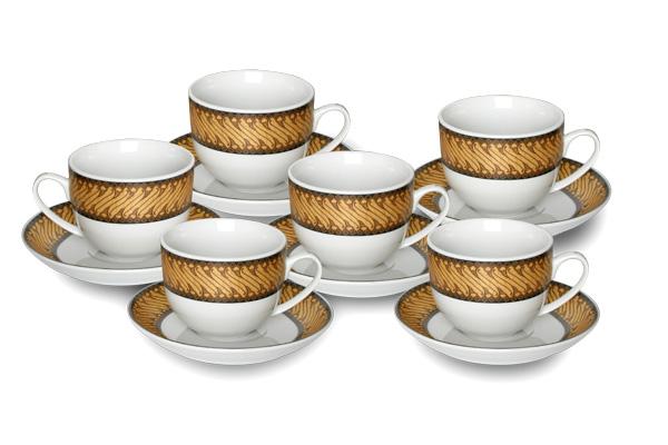 Cup&Saucer (12 pcs) Parang Mekar