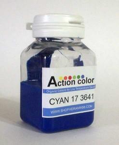 Cat Action Colour Cyan
