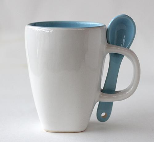 Mug Sendok D1387 turquoise
