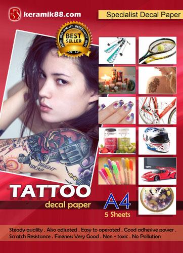 Kertas Decal untuk Tattoo