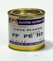Tinta Sablon Plastik Biru